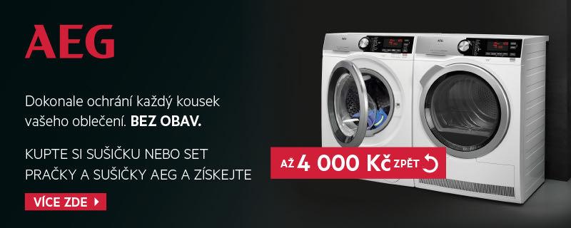 AEG - Při nákupu sučičky nebo setu pračky a sušičky získejte až 4.000 nazpět