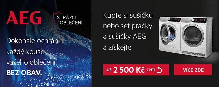 AEG BEZ OBAV - AŽ 2.500 KČ ZPĚT!